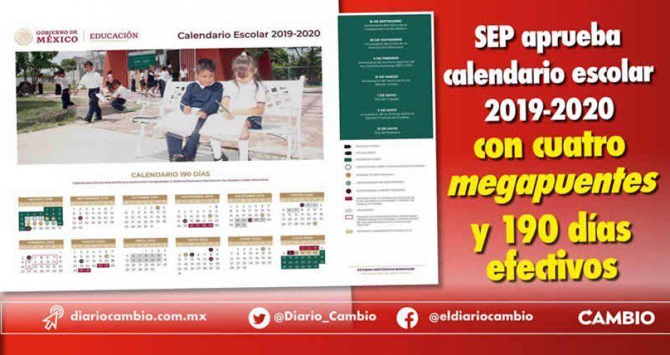 Calendario Escolar 2020 Sep Cdmx.Sep Aprueba Calendario Escolar 2019 2020 Con Cuatro