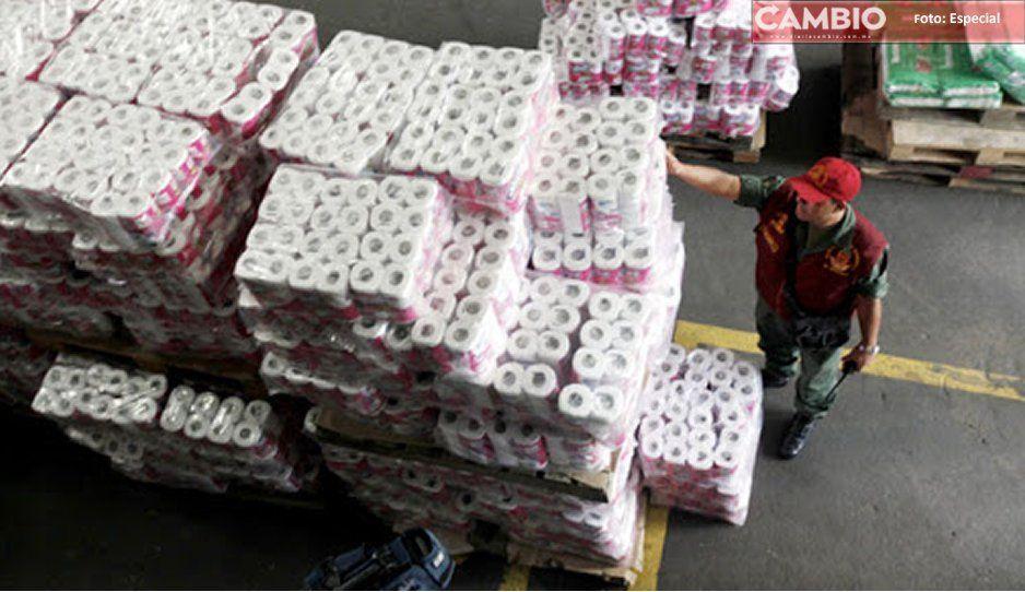 Recuperan tractocamión en Texmelucan cargado con papel higiénico