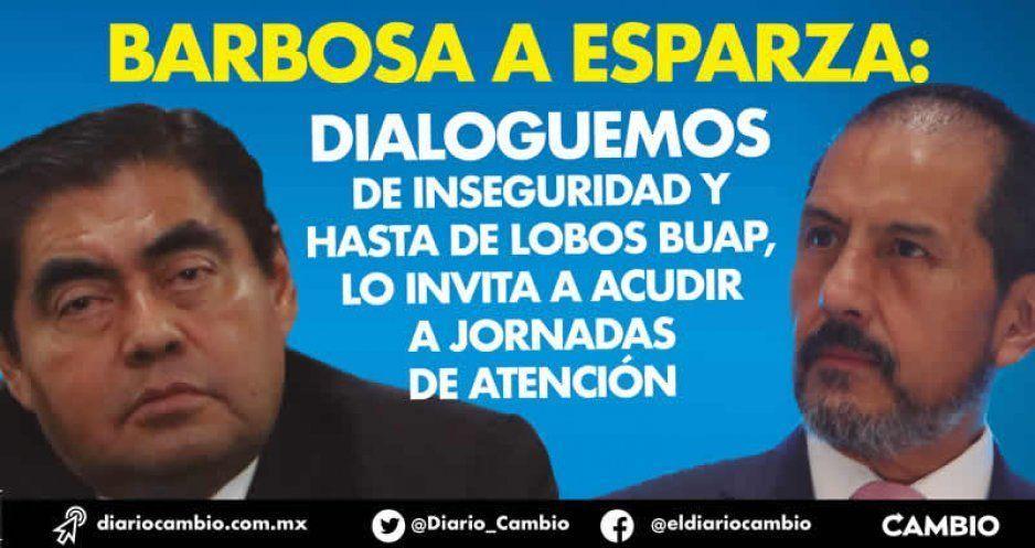 Barbosa a Esparza: dialoguemos de inseguridad y hasta de Lobos BUAP, lo invita a acudir a Jornadas de Atención (VIDEO)