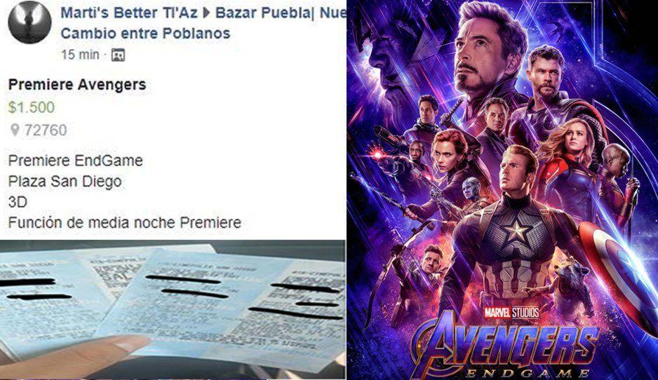 ¡A su Marvel! 1500 pesos el boleto en reventa para premier de Avengers Endgame en Plaza San Diego