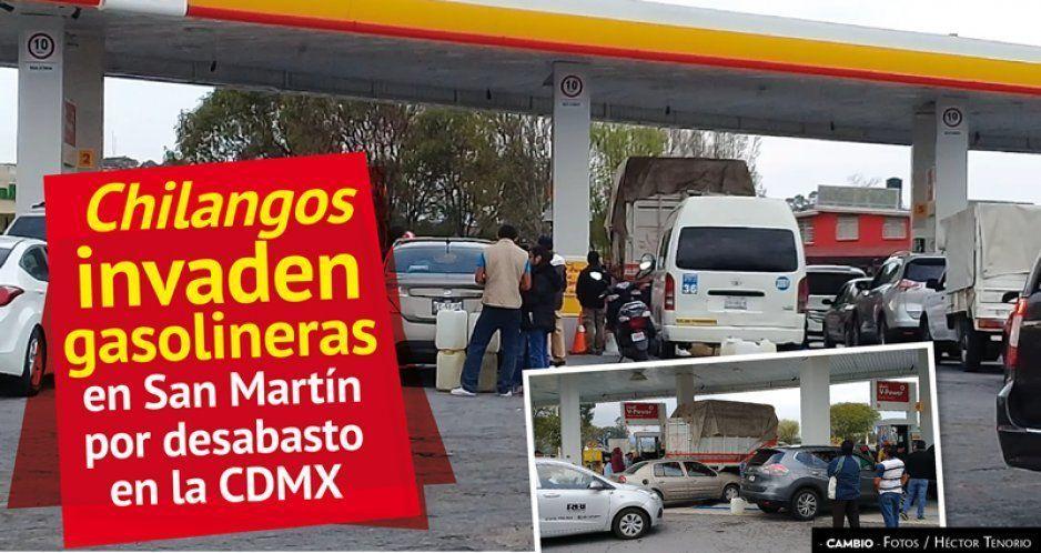 Chilangos invaden gasolineras en San Martín por desabasto en la CDMX (VIDEO)