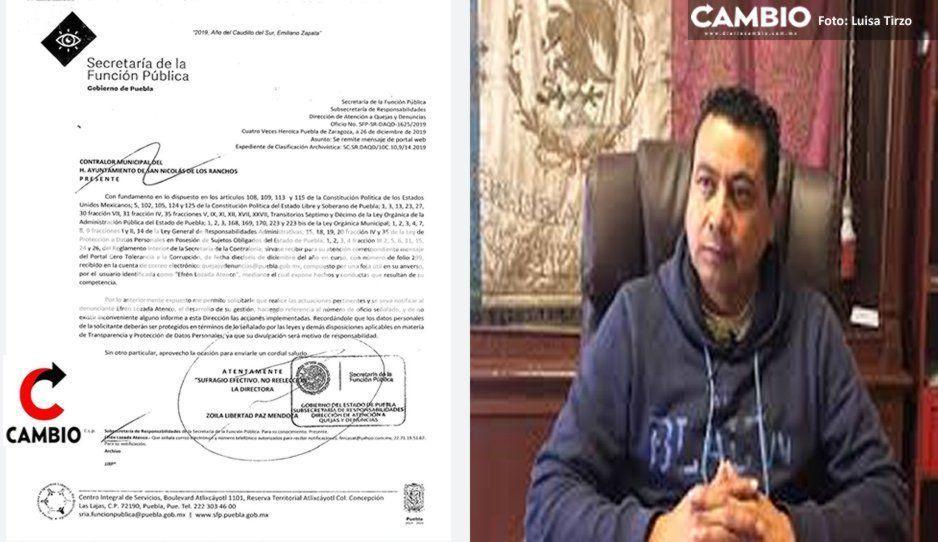 Regidor de Hacienda denuncia a edil de San Nicolás de los Ranchos por desvío de 47 millones