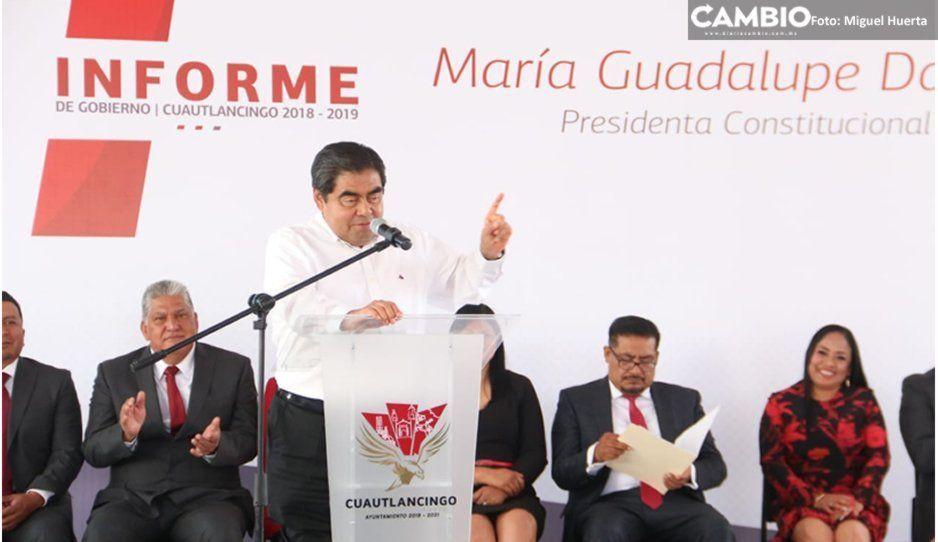 Barbosa exhorta a alcalde de Morena a dar buenos resultados antes pensar en las elecciones 2021
