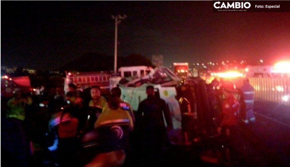 Asalto provoca accidente en la México-Puebla y deja siete muertos y 11 heridos