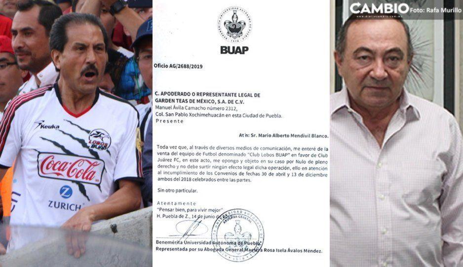 Oficial: BUAP desaprueba ante la Federación mudanza de Lobos a Ciudad Juárez (documento)