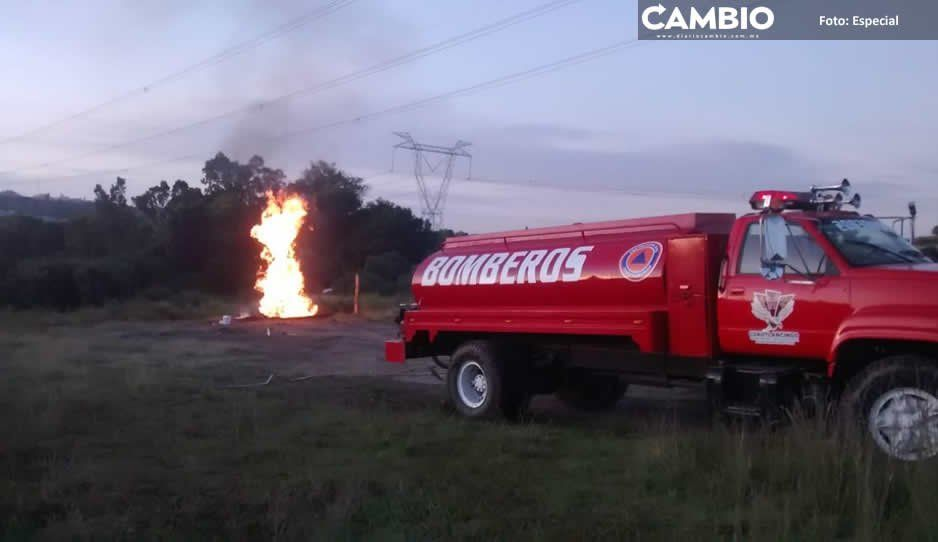 Huachigaseros provocan fuga y explosión en Cuautlancingo
