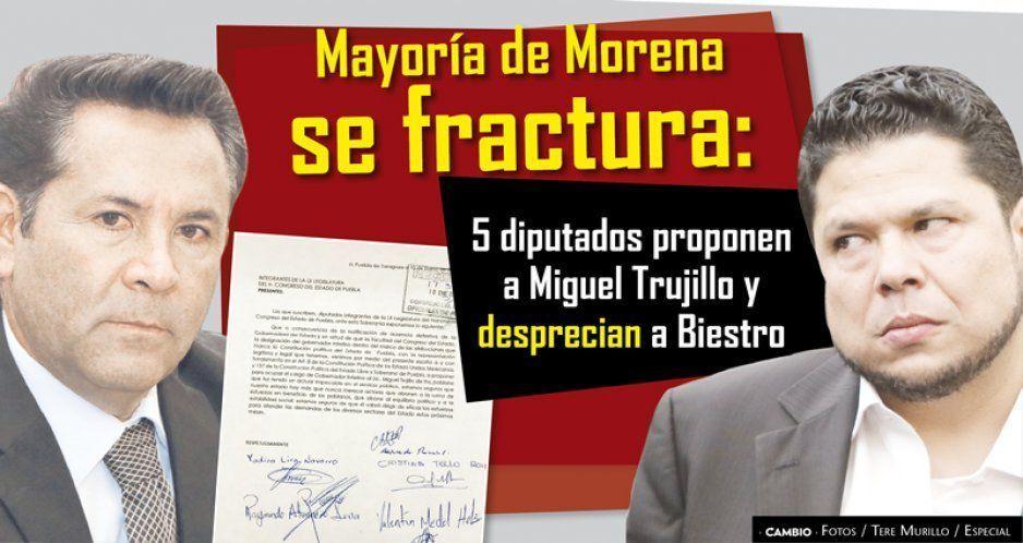 Mayoría de Morena se fractura: 5 diputados proponen a Miguel Trujillo y desprecian a Biestro