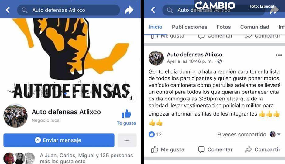 Ex militares en Atlixco convocan a conformar grupo de autodefensa