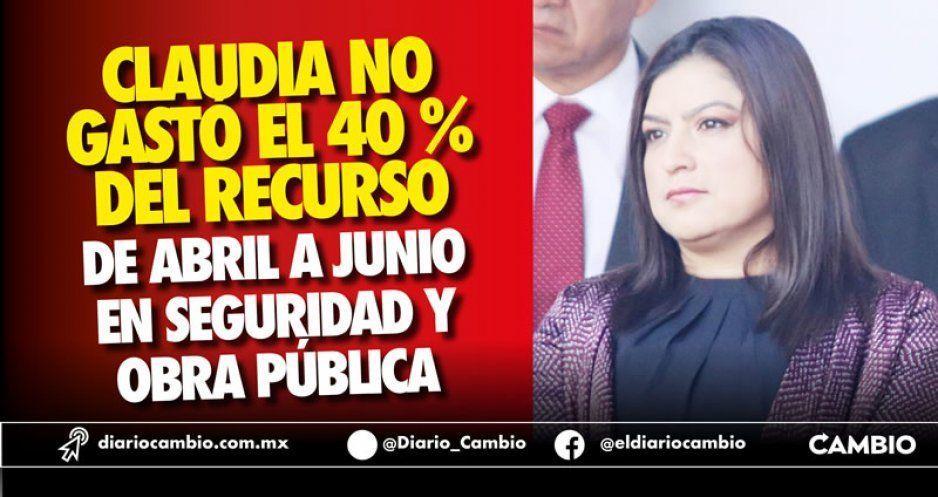 Claudia no gastó el 40 % del recurso de abril a junio en seguridad y obra pública