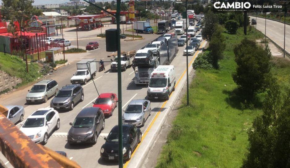 Capufe dice que ya liberaron las autopistas… pero el cierre continúa en la México-Puebla (VIDEO)