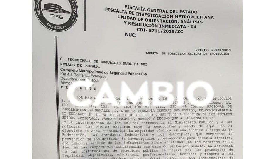 Ex alcalde de Cuautlancingo presenta denuncia ante la FGE tras ser amenazado