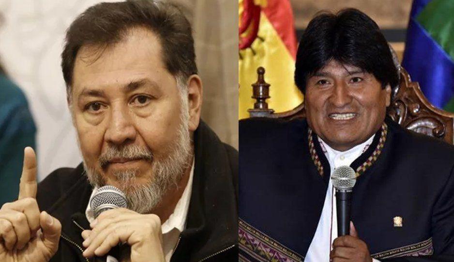 Fernández Noroña pide coperacha para pagar gastos de Evo Morales