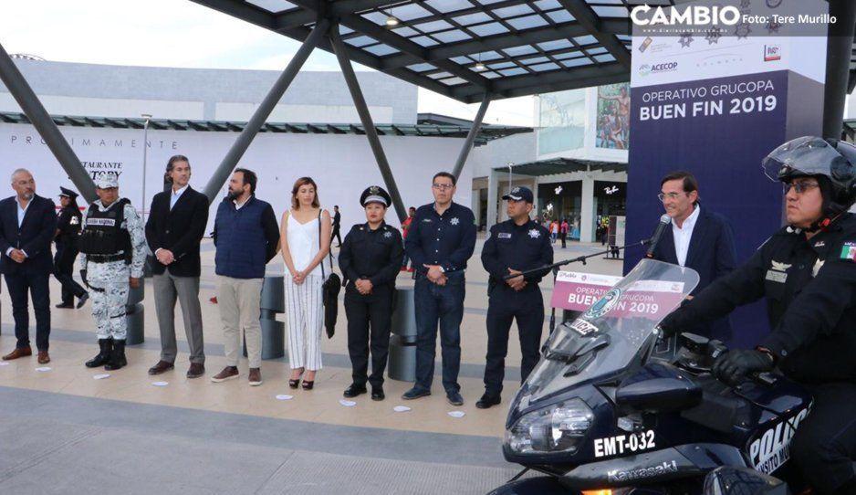 Arranca operativo de seguridad por el Buen Fin 2019 en Puebla y las Cholulas
