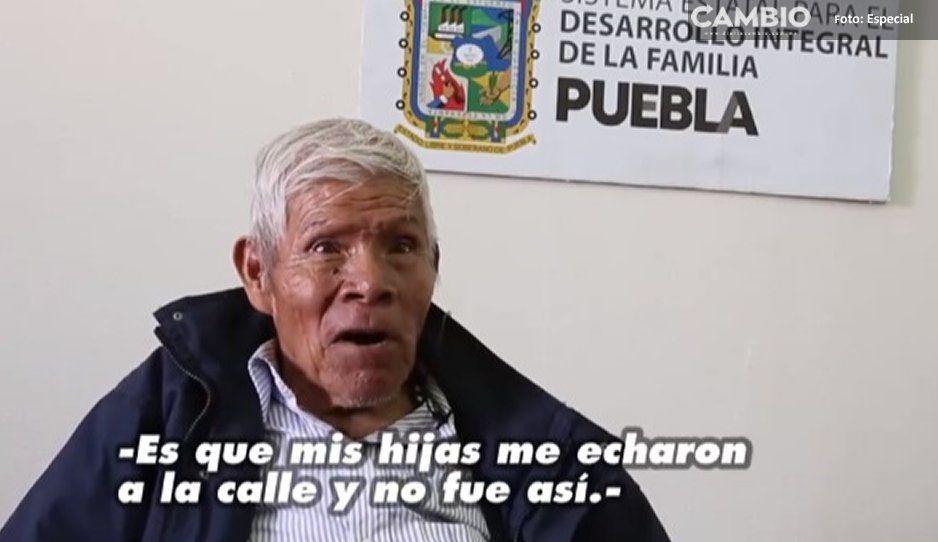 Don Samuelito niega haber sido abandonado  por su familia: me botó un taxista abusivo