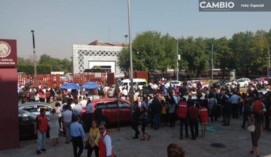 VIDEO: por amenaza de bomba, desalojan el Palacio de Justicia de San Lázaro