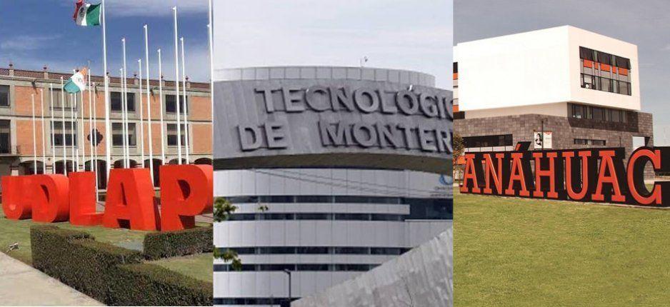 Tres universidades poblanas entre las mejores mil del mundo: Tec de Mty, Udlap y Anáhuac