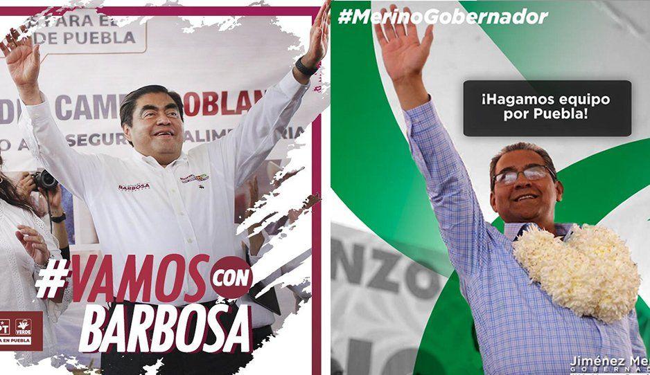 Se enciende en redes sociales el debate con los hashtags #VamosConBarbosa y #MerinoGobernador