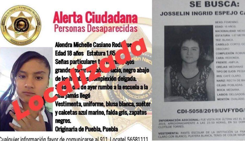 Aparece Alondra Michel, una de las dos estudiantes desaparecidas del Bachillerato La Fragua