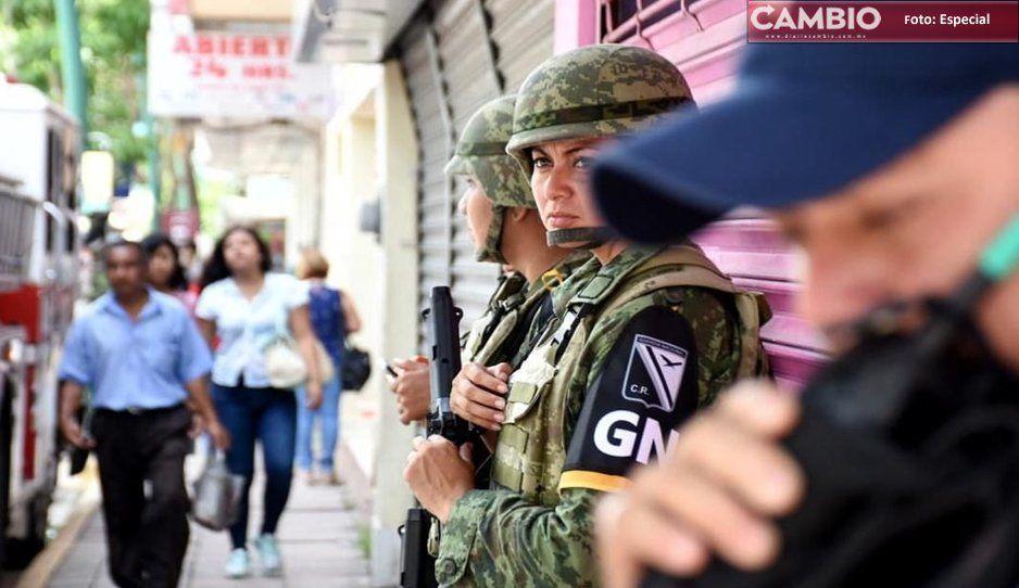 GN y municipales detienen a dos por rapto y armas en Atlixco