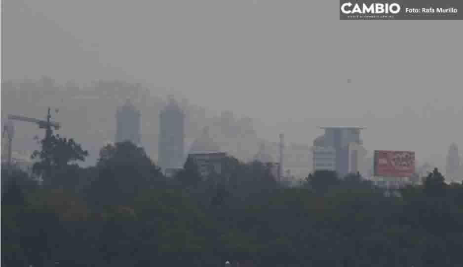 Aumenta la mala calidad de aire en zona centro de Puebla (FOTOS Y VIDEO)