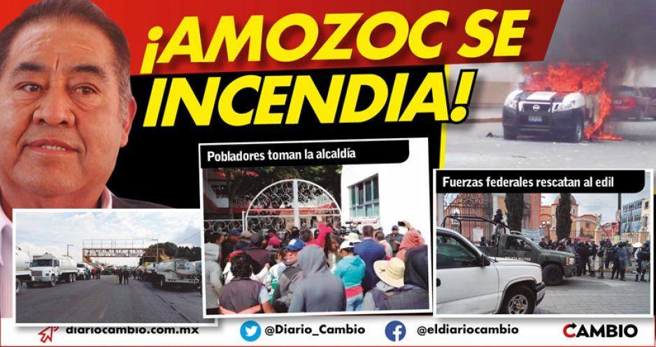Jornada violenta en Amozoc: exigen destitución del edil Mario de la Rosa (VIDEOS)