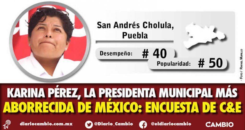 Regalo de Reyes: Karina Pérez, la alcaldesa más aborrecida del país según encuesta