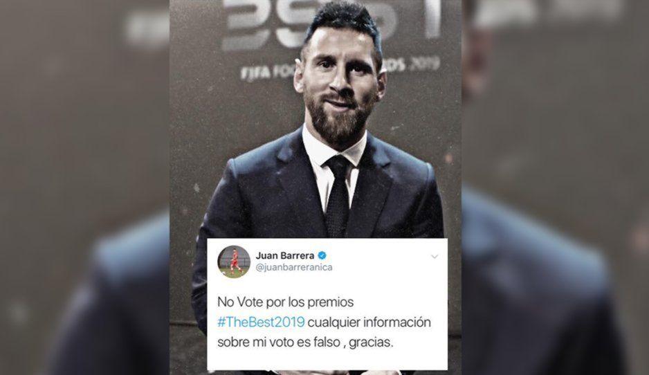 Robo en los premios The Best: Capitán de Nicaragua niega haber votado por Messi