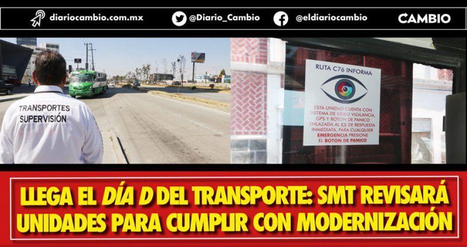 Hoy arranca revista y revisión del transporte público para verificar si se modernizaron