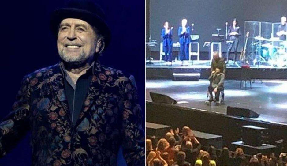 Operan a Joaquín Sabina por derrame cerebral tras  aparatosa caída en un concierto
