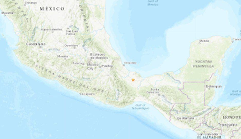 Reportan sismo de 5.1 en limites de Puebla y Veracruz