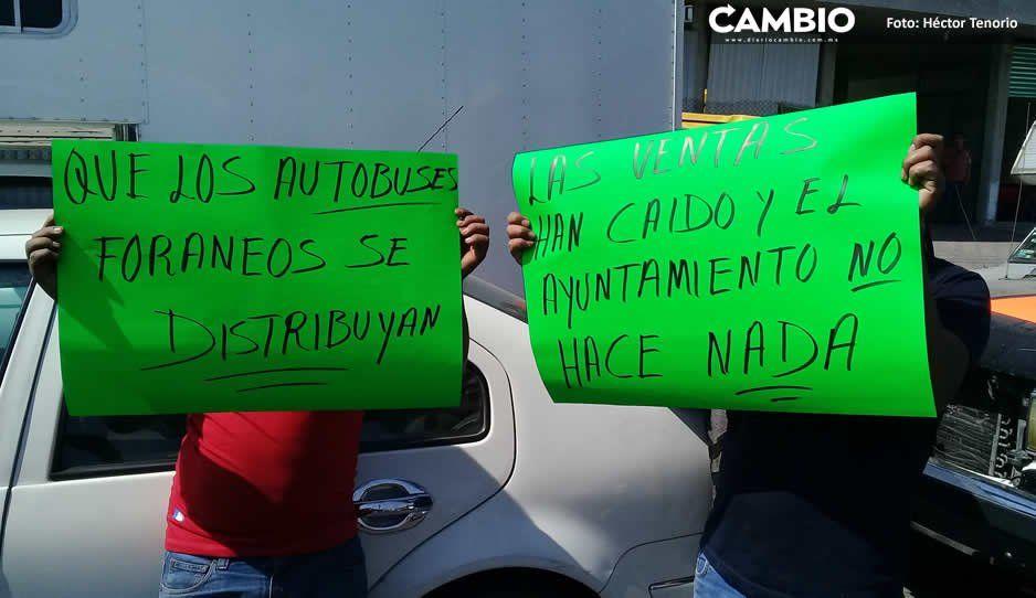 Comerciantes de Texmelucan declaran guerra a Norma Layón