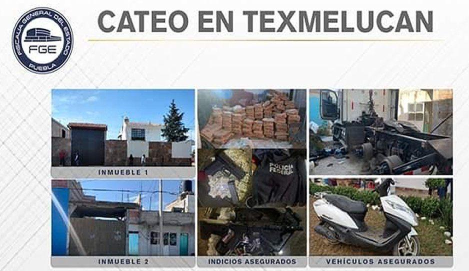 FGE asegura 18 toneladas de mercancía en cateos de Texmelucan