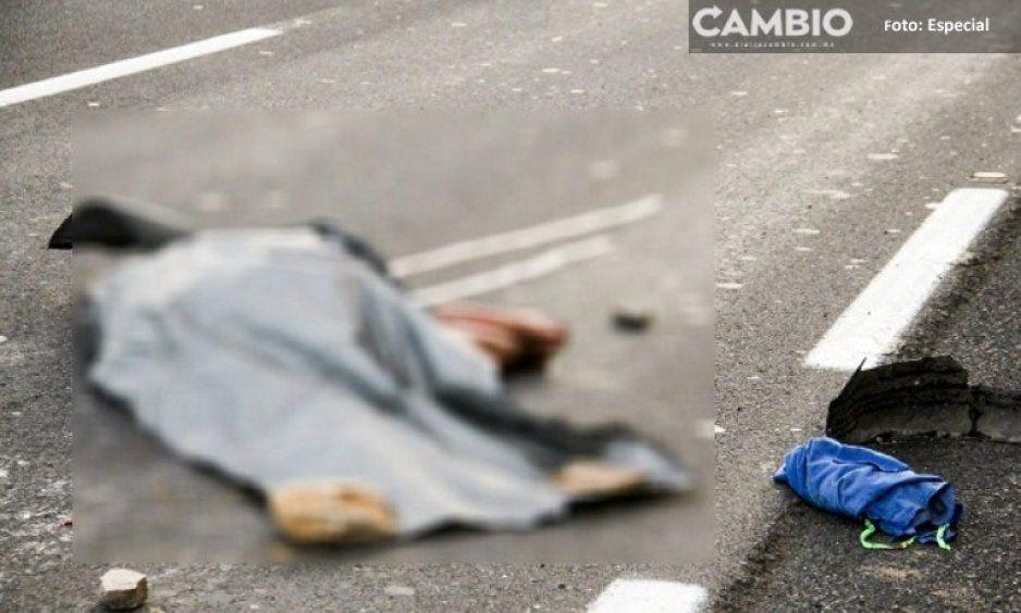 Muere desmembrado sobre la Carretera Federal Puebla-Tehuacán