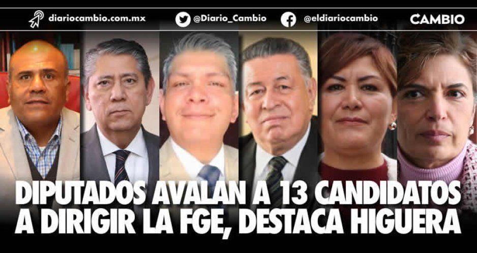 Diputados avalan a 13 candidatos a dirigir la FGE, destaca Higuera
