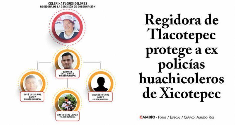 Regidora de Tlacotepec protege a ex policías huachicoleros de Xicotepec