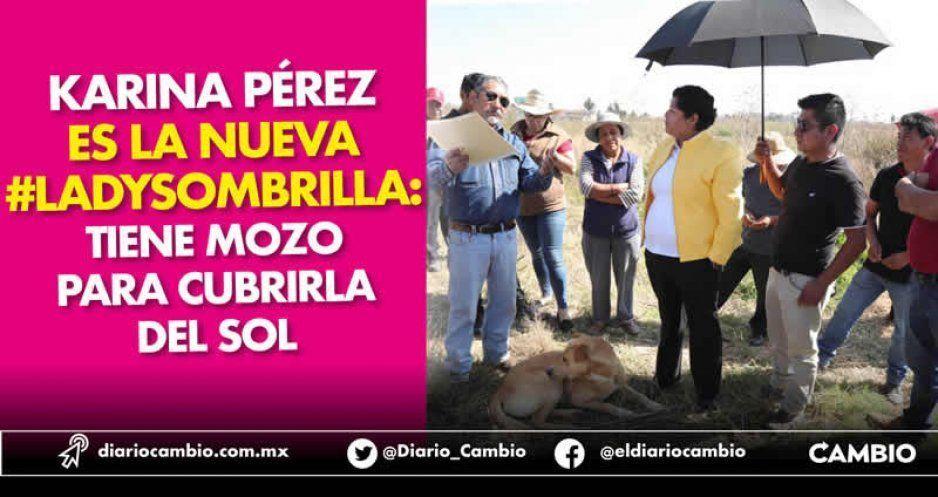 Karina Pérez es la nueva #Ladysombrilla: tiene mozo para cubrirla del sol