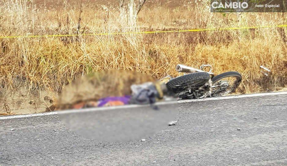 Choque de camioneta y motocicleta deja un muerto en Tlahuapan