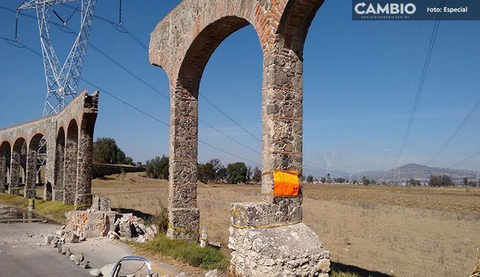 Acueducto del siglo XIX en Texmelucan continúa sin ser reparado