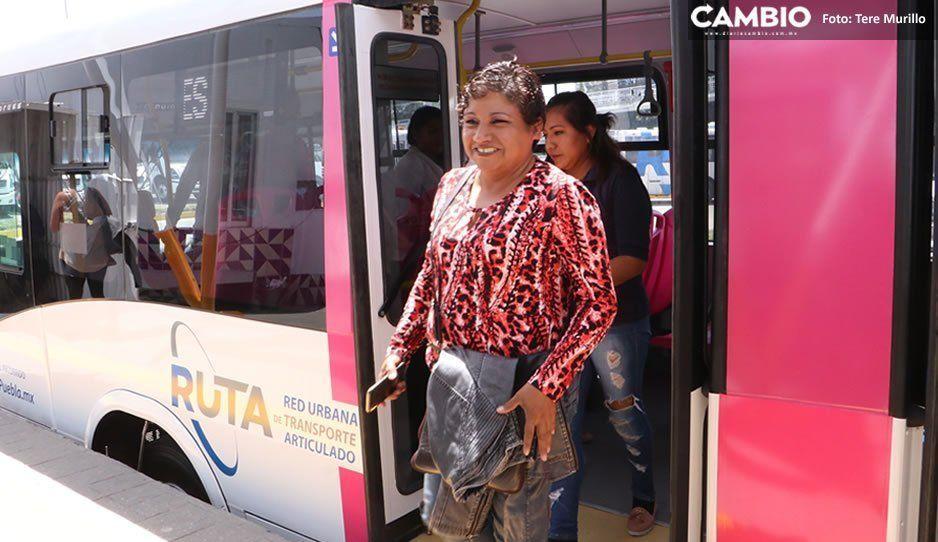 Instituto Poblano de las Mujeres pide que se amplíe el horario de RUTA rosa