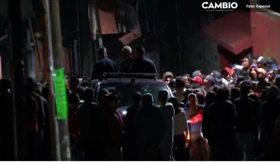 Habitantes de Amozoc intentan linchar a dos sujetos por realizar disparos en San José la Laguna
