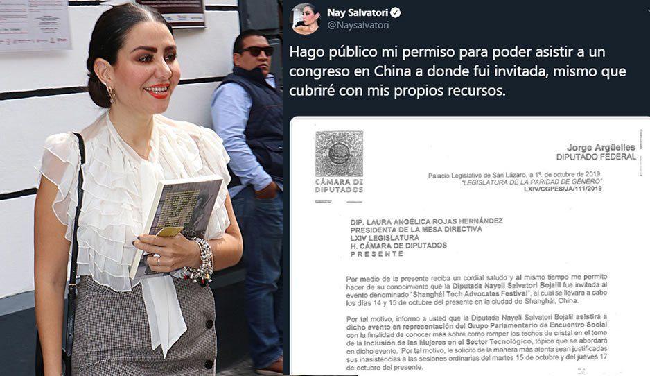 Nay Salvatori se va a China a un Congreso... pero ella dice que se paga el viaje de su bolsa