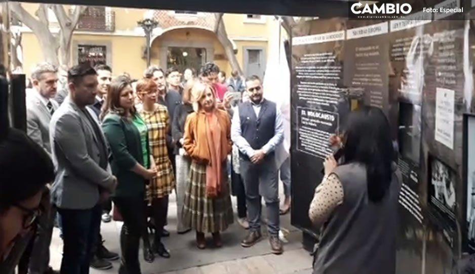 Inaugura Claudia exposición itinerante Túnel de Memoria y Tolerancia