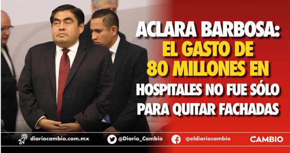 Remodelación de las Unidades Médicas no es solo para retirar la talavera fake: Barbosa (VIDEO)