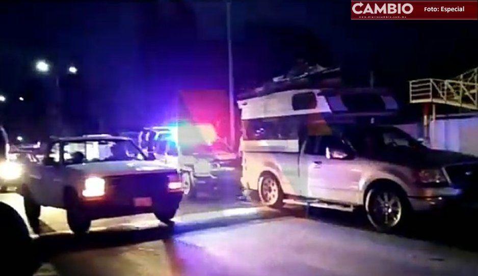 Sujetos con armas intentan atracar a comerciante en Texmelucan