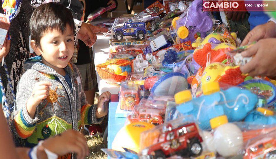 Entregan Reyes Magos más de 30 mil juguetes en Atlixco