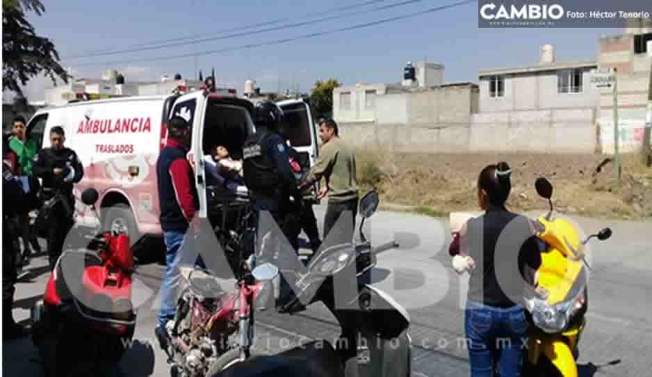 Intento de asalto deja a un joven lesionado en Texmelucan; pretendían llevarse una camioneta cargada de llantas