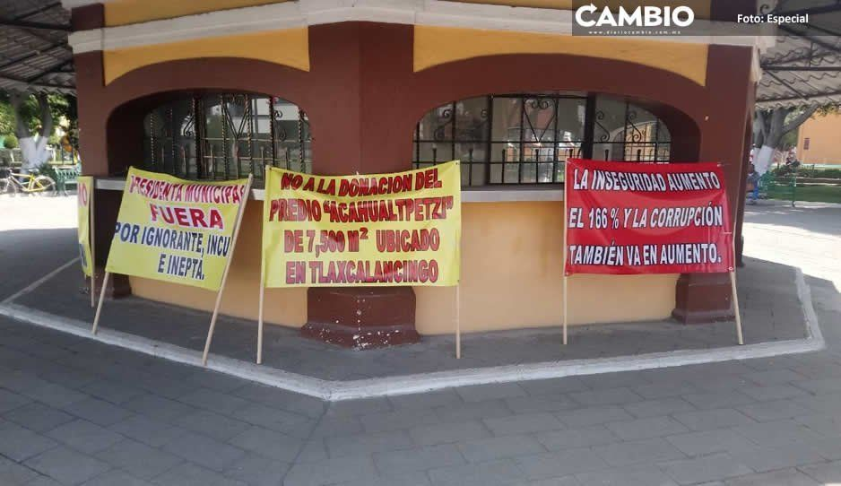 Ejidatarios exigen renuncia de Karina Pérez en San Andrés