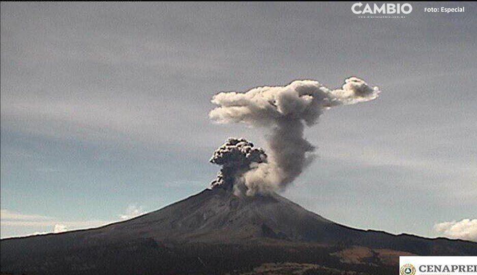 Don Goyo está enojado, expulsa lava y una fumarola de 2 kilómetros