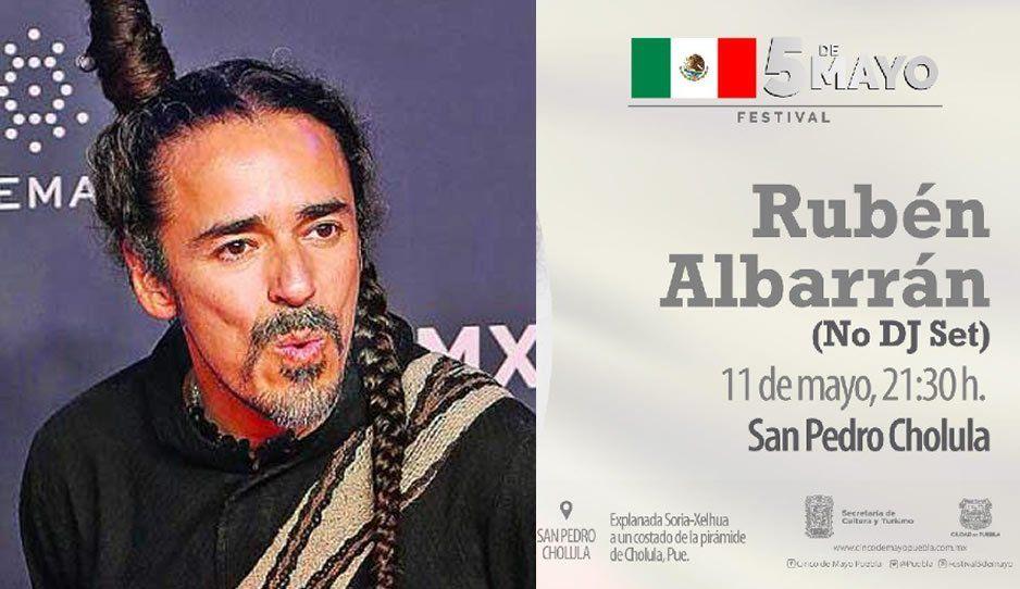 Rubén Albarrán de Café Tacvba estará en Puebla en el Festival 5 de Mayo (VIDEO)