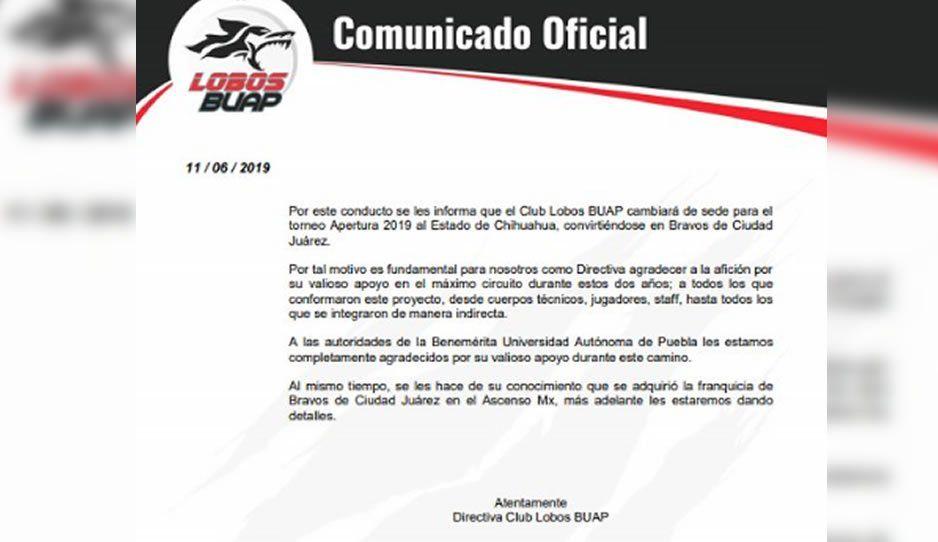 Gracias a la BUAP, así se despide Lobos de Puebla